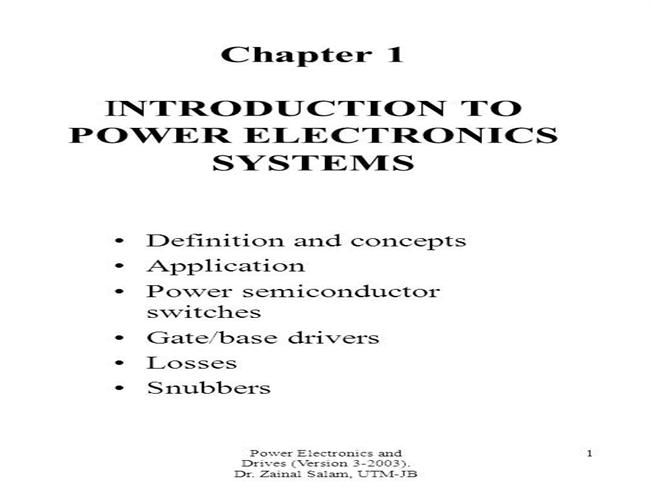 Introduction to Power Electronics System |authorSTREAM