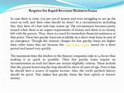 Require for Rapid Revenue Business loans