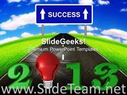 2013 NEW YEAR IDEA SUCCESS POWERPOINT TEMPLATE