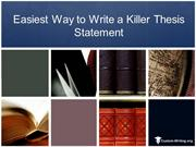 Easiest Way to Write a Thesis Statement
