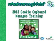 Cookie Cupboard Manager Training