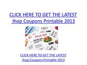 Ihop Coupons Printable 2013 - Free Ihop Coupons Printable 2013