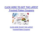 Frosted Flakes Coupons - Printable Frosted Flakes Coupons