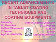 Advances in tablet coating techniques