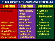 summarizing  for +2 students