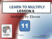Lesson 8 Multiply by 11s