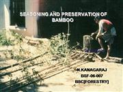 SEASONING AND PRESERVATION OF BAMBOO