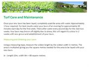 Turf Care and Maintenance | Turf Suppliers | Turf Supply
