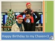 Happybirthday to Chaien :X