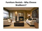 Furniture Rentals - Why Choose Bradbeers