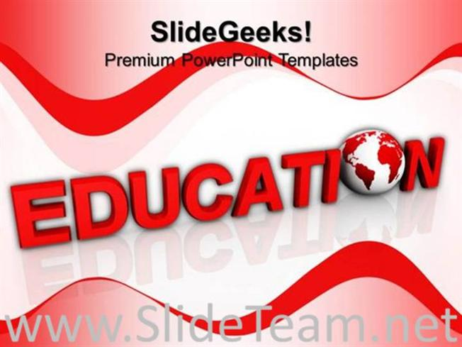 education word global powerpoint theme powerpoint template