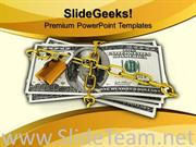 DOLLARS LOCKED WITH PADLOCK SECURITY POWERPOINT THEME