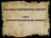 HOUSING COOPERATIVE SOCIETY