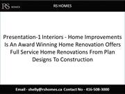 Presentation-1 Interiors - Home Improvements Is An Award Winning Home