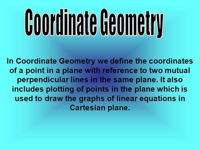 coordinate geometry authorstream