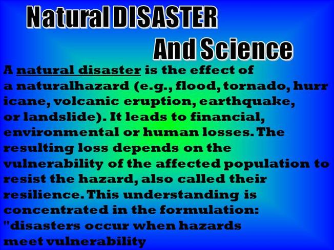 Ppt natural disasters powerpoint presentation id:6466830.