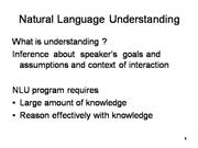natural language understanding