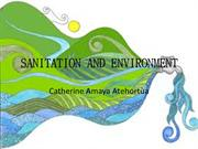 Cathy Amaya SANITATION AND ENVIRONMENT