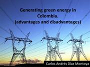 Carlos Diaz  generating green energy in Colombia