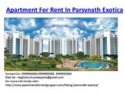 Apartment For Rent In Parsvnath Exotica