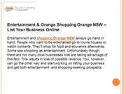 Entertainment & Orange Shopping Orange NSW - List Your Business Online