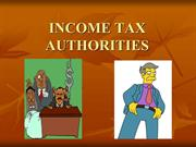 Income Tax Authorities Operating In India