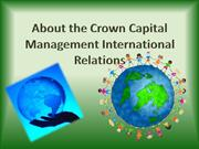 About the Crown Capital Management International Relations