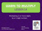Lesson 14 Multiplying 2 digits by 1 digit
