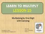 Lesson 15 Multiply by 1 Digit With Carrying