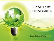 PLANETARY BOUNDARIES Pablo Uribe