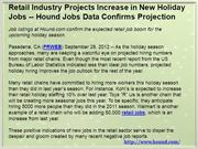 Retail Industry Projects Increase in New Holiday Jobs -- Hound Jobs Da