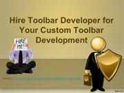 Hire Toolbar Developer for Your Custom Toolbar Development