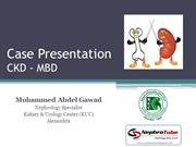 CKD - Mineral Bone Disease (MBD) - Case Presentation