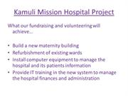 Kamuli - our fundraising 2