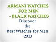 Cool Armani Watches For Men - Black Mens Watches Armani