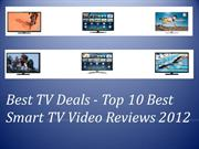 Best Tv Deals - Top 10 Best Smart TV Deals Reviews 2013