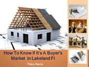 How To Know If It's A Buyer's Market