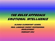 The RULER Approach - Parent PD
