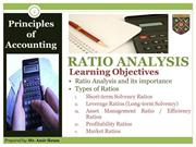 Accounting; Ratio Analysis