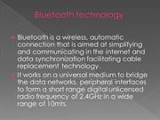 Bluetooth technology ppt by vinu