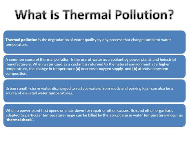 effects of thermal pollution on human health