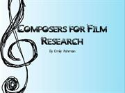 Composers for film Research