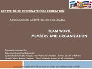 Teamwork,  Members and the organization  (National Association Active