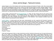 About Janine Zargar - Facts and reviews