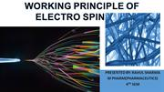working principles of electrospinning