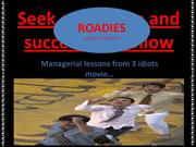 NIPER-MBA 12-MANAGERIAL LESSONS OF 3 IDIOTS MOVIE