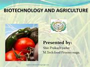 biotechnolgy and agriculture