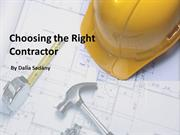 How to choose a Contractor?