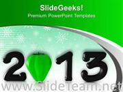 2013 IN BLACK WITH GREEN CAPSICUM POWERPOINT TEMPLATE