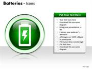 POWER BATTERIES ICON SLIDES AND DIAGRAM TEMPLATES